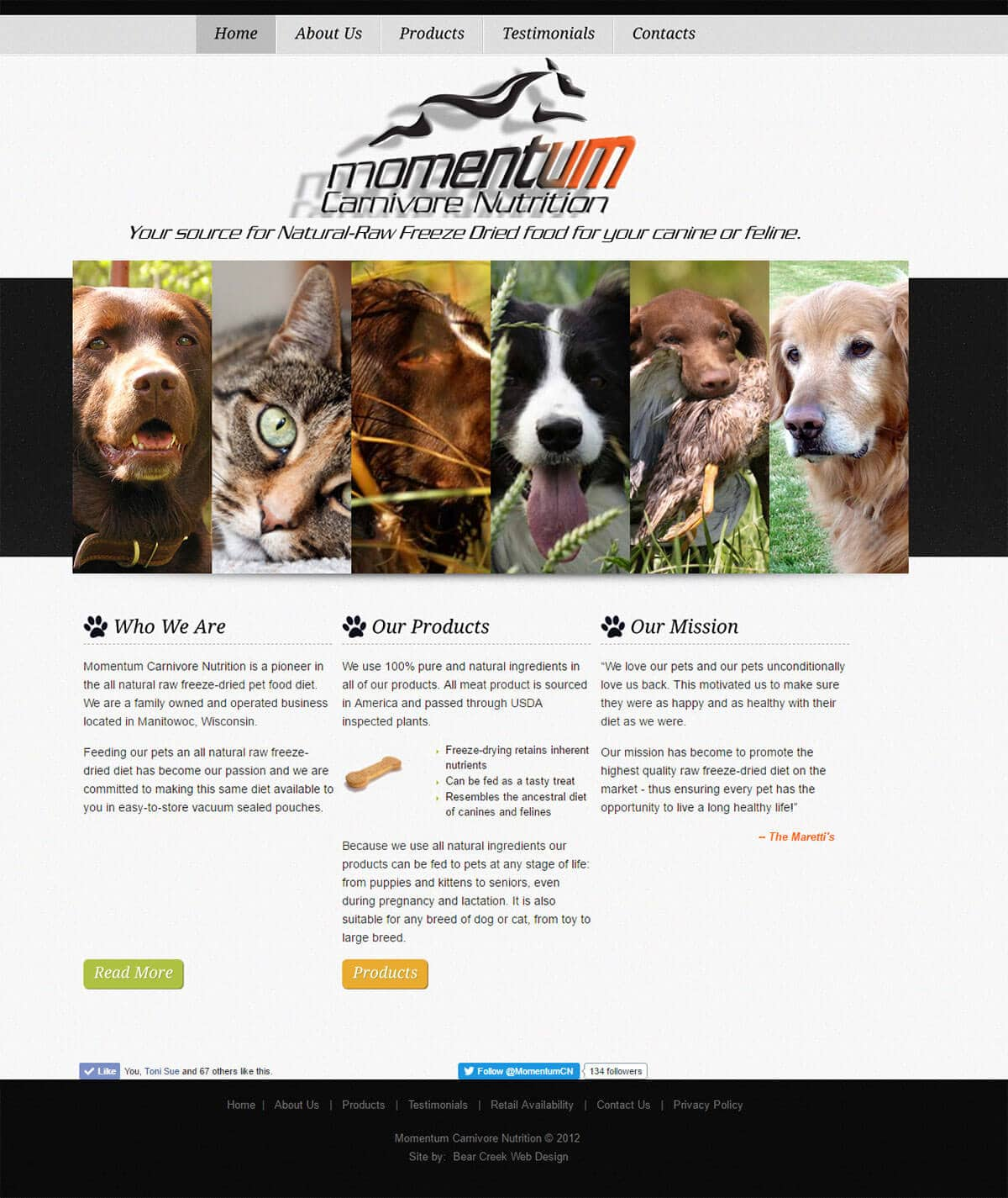eCommerce Pet Product Website Design | Momentum | Manitowoc, WI