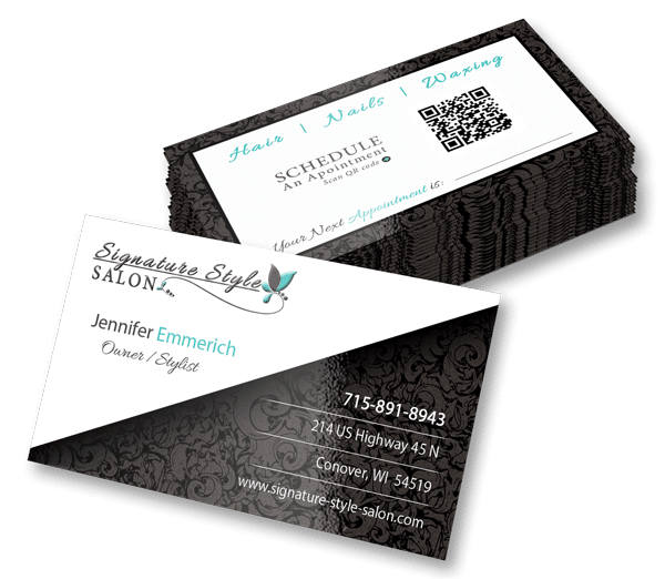 Business Card Design | Branding Collateral | Signature Style Salon | Land O Lakes, WI
