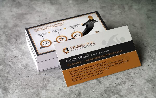 Business Card Design | Synergy Fuel Coaching & Consulting | Milwaukee, WI