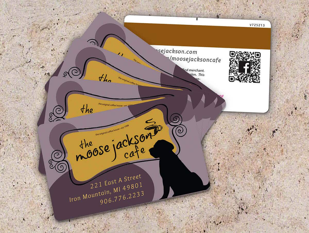 Branding Gift/Loyalty Card Design | Moose Jackson Cafe | Iron Mountain, MI