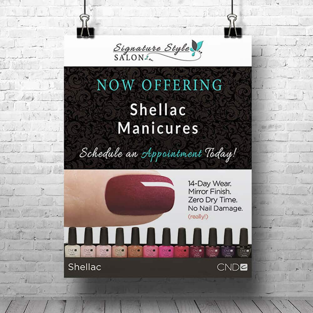 Manicure Flyer Design  Signature Style Salon