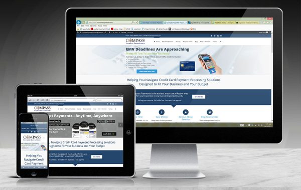 Responsive Website Design | Compass Payment Consultants | Conover, WI