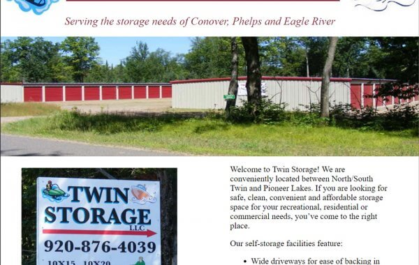 Eagle River WI Web Design | Twin Storage Units