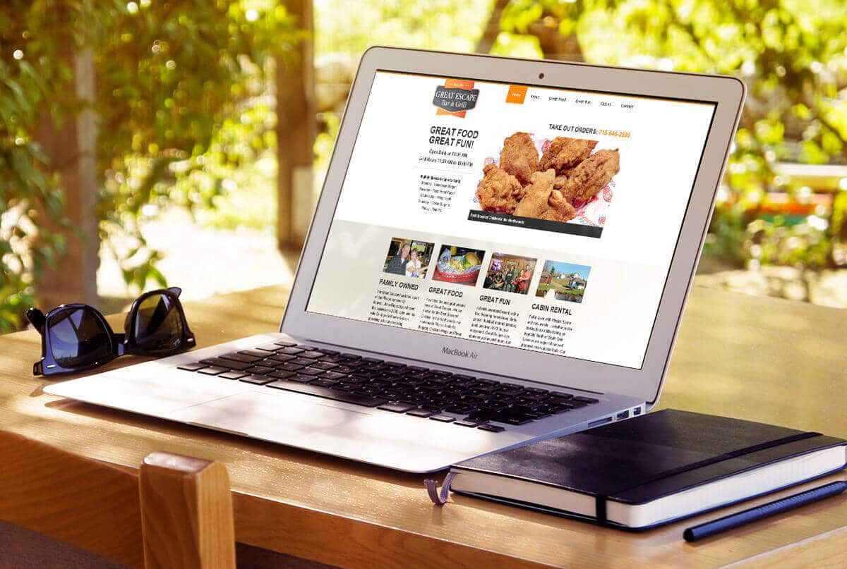 Responsive Website Design | Great Escape Bar & Grill | Phelps, WI