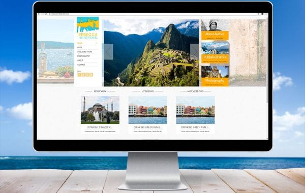 Website Design | Rebecca Writes Travel | Phoenix, AZ